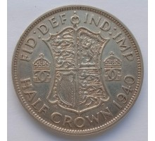 Великобритания 1/2 кроны 1940 серебро