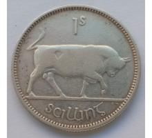 Ирландия 1 шиллинг 1939 серебро