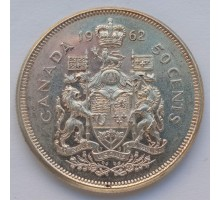 Канада 50 центов 1962 серебро