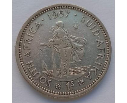Южная Африка (ЮАР) 1 шиллинг 1957 серебро
