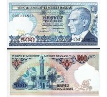 Турция 500 лир 1984