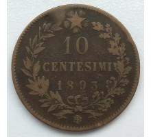 Италия 10 чентезимо 1893