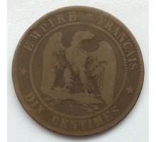 Франция 10 сантимов 1854