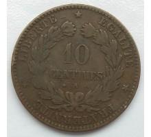 Франция 10 сантимов 1871