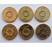 Австралия 2 доллара 2016. XXXI летние Олимпийские Игры, Рио-де-Жанейро 2016. Набор 6 шт цветные
