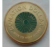 Австралия 1 доллар 2020. Доллар для пожертвований цветная