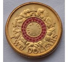 Австралия 2 доллара 2015. Долг Памяти цветная красная