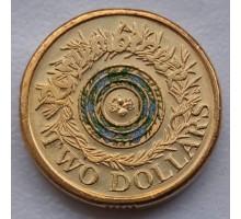 Австралия 2 доллара 2017. Мы не забудем цветная