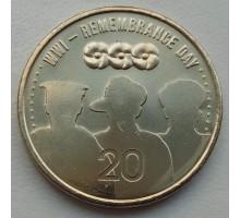 Австралия 20 центов 2015. АНЗАК - День памяти