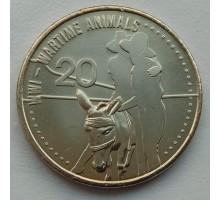 Австралия 20 центов 2015. АНЗАК - Животные на войне