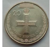 Австралия 20 центов 2017. Легенды АНЗАК - Медали почета. Крест патронажной службы