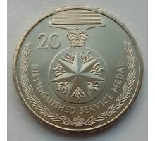 Австралия 20 центов 2017. Легенды АНЗАК - Медали почета. Крест за выдающуюся службу