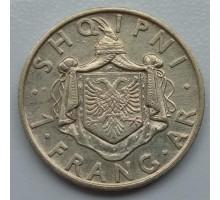 Албания 1 франг ар 1935 серебро