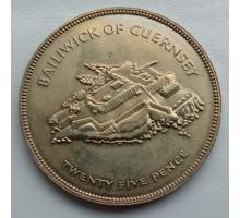 Гернси 25 пенсов 1977. 25 лет правления Королевы Елизаветы II