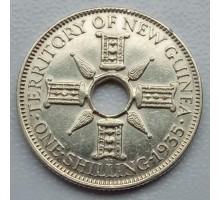 Новая Гвинея 1 шиллинг 1935 серебро
