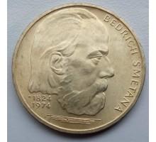 Чехословакия 100 крон 1974. 150 лет со дня рождения Бедржиха Сметаны серебро