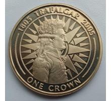 Гибралтар 1 крона 2005. 200 лет Трафальгарской битве - Вице-адмирал Пьер де Вильнев