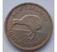 Новая Зеландия 1 флорин 1950