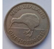 Новая Зеландия 1 флорин 1951