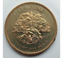 Остров Святой Елены 25 пенсов 1977. Гигантская черепаха