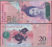 Венесуэла 20 боливаров 2014