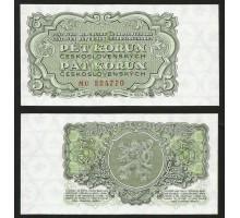 Чехословакия 5 крон 1953