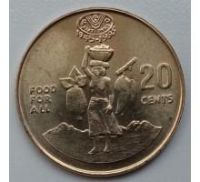 Соломоновы острова 20 центов 1995. ФАО