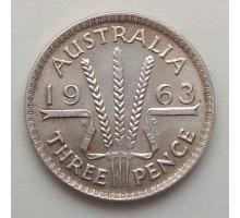 Австралия 3 пенса 1963 Серебро