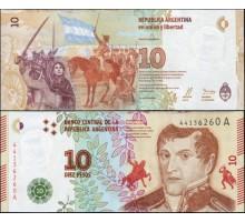 Аргентина 10 песо 2016
