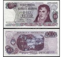 Аргентина 10 песо 1973-1976