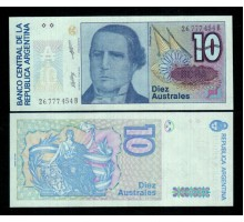 Аргентина 10 аустралей 1989