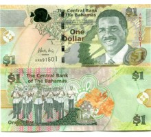 Багамские острова 1 доллар 2008-2015