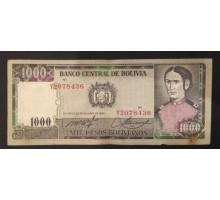 Боливия 1000 боливиано 1982