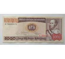 Боливия 5000 боливиано 1984