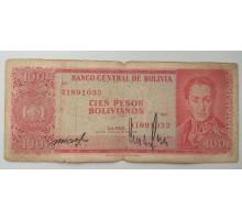Боливия 100 боливиано 1962