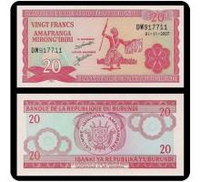 Бурунди 20 франков 2007