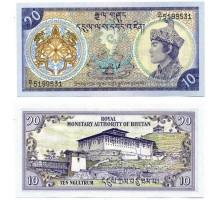 Бутан 10 нгултрум 1986