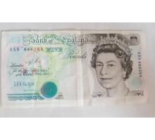 Великобритания 5 фунтов 1990-1991