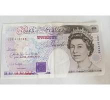 Великобритания 20 фунтов 1991
