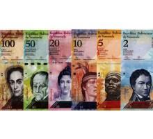 Венесуэла 2012-2015. Набор 6 банкнот.