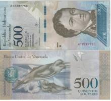 Венесуэла 500 боливаров 2016
