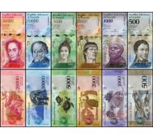 Венесуэла 2016-2017. Набор 6 банкнот