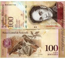 Венесуэла 100 боливар 2013-2015