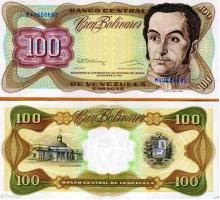 Венесуэла 100 боливар 1992