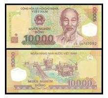 Вьетнам 10000 донг 2017 полимер