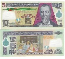 Гватемала 5 кетцалей 2013 полимер