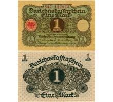 Германия 1 марка 1920 (номер 9 цифр)