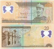 Доминиканская республика 20 песо 2009 полимер
