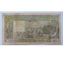 Западная Африка 500 франков 1981. Сенегал