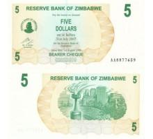 Зимбабве 5 долларов 2006